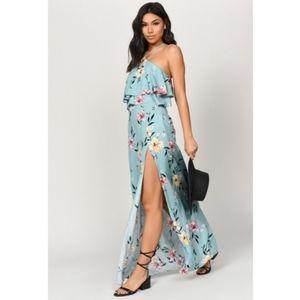 NWT TOBI Perfect Florals Sage Multi Maxi Dress